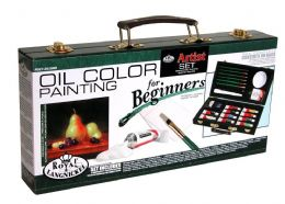 Royal and Langnickel Beginners Oil Painting Box Gift Set + Beginners Guide